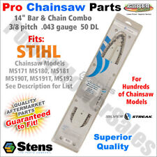 """14"""" Bar & Chain (.043) Stihl Chainsaws MS171 MS180, MS181, MS190T, MS191T, MS192"""