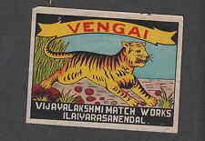 Ancienne étiquette de paquet   allumettes Inde  GH216 Tigre