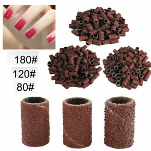 100PCS Manicure Pedicure Sanding Bands 80# 120# 180# Nail Drill Replacement Bits