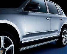 2003-2010 Porsche Cayenne Side Moldings Pair Silver Cristo Metallic 95504480006