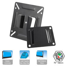 C2 TV Bracket Wall Mount Stand W/ Screws for 14-24'' LED LCD Screen Monitor D3A7
