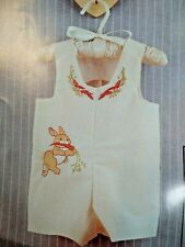 1984 Infant Romper Bunny KIt  Sunset 2896 Stitchery New  Open Package Complete