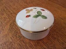 "Wedgwood Wild Strawberry bone china 2 3/4"" fluted round box"