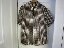 Men's CARHARTT Checkered Short Sleeve Button Front Shirt Size L