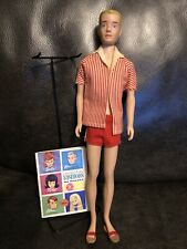 1960 Mattel Barbie Doll-SL KEN Painted Blonde Hair 750 OSS Stand~booklet~sandals