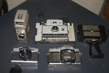 5 Cameras+4 Camera Cases-Mamiya-Polaroid-Bel l&Howell-Agfa-Mintaka= Lots Of Parts+