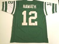 UNSIGNED CUSTOM Sewn Stitched Joe Namath Green Jersey - M, L, XL, 2XL