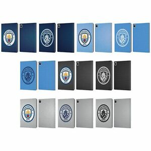 MANCHESTER CITY MAN CITY FC BADGE PIXELS LEATHER BOOK CASE FOR APPLE iPAD