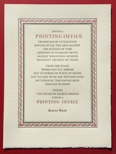 This Is a Printing Office poster
