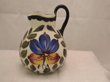 Erphila Art Pottery Creamer Small Pitcher Floral Czech Slovakia Vintage