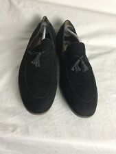 Shoe Embassy Mens Black Suede Loafers With Tassel Size 45