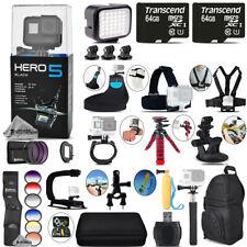 GoPro Hero5 Black 4K Camera + 9PC Filter Kit Set + Backpack -128GB Bundle Kit
