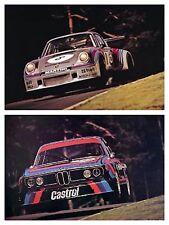 BMW 3.0 CSL Airbone 1974/Porsche Turbo Airborne 1974 XMAS SPECIAL CAR POSTER SET