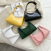 Fashion Alligator PU Handbag Women Solid Leather Totes Elegant Shoulder Bag
