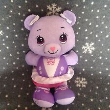 "FISHERPRICE Purple Doodle Bear 14"" Tall Soft Plush Comforter Toy Immaculate"