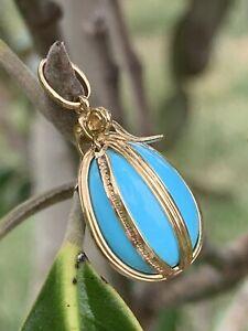Tiffany & Co Schlumberger 18K Gold Turquoise Egg Charm Pendant