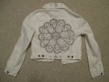 Lucky Brand White Studded Denim Jacket Size XS
