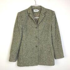 Gray Tweed Coat,Size 4,Small,Wool Blend, Tribal Brand,Car Coat,Career
