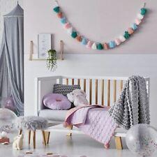 ADAIRS Cambridge COMFORTER colour choice- Lilac, Peach - COT COVERLET - pompom