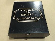 Savinelli Series Y Torpedo Premium Cigars Empty Wood Cigar Box