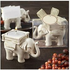 Wedding Festive Holiday Candle Ceramic White Elephant Ornament JF JE EH