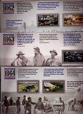 US THE CIVIL WAR SET 1862 1863 & 1864 Scott #4664-65 #4787-88 & #4910-11 MINT VF