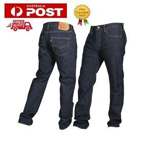 Levi's 501 Jeans Mens Blue Stonewash Button Fly 30 31 32 33 34 36 38 44