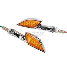 Chrome Skull LED Turn Signals For Honda VF VT Magna Stateline 500 700 750 1100