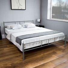Dorset 5ft King Size Bed Silver Steel Metal Frame Modern Bedroom Furniture