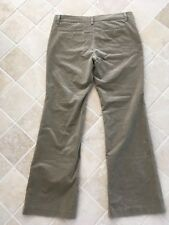 COUNTRY ROAD WOMENS COTTON PANTS SIZE 14 THICK VELOUR FEEL, STRAIGHT BEIGE #1122