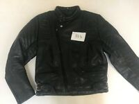 """Motorcycle Jacket Real Leather Black Armpit 21"""" Lgth 23"""" (864)"""