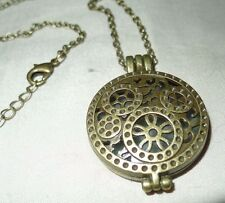 GLOW IN THE DARK * Steam Punk Gears Necklace & Pendant * Art Deco Inspired