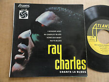 """DISQUE 45T DE RAY CHARLES AVEC LANGUETTE  """" I WONDER WHO """""""