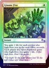 Gimme Five FOIL Unstable MINT White Uncommon MAGIC THE GATHERING CARD ABUGames