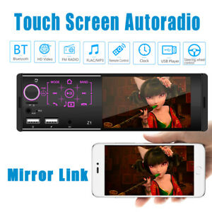 "4.1"" Single Din Car Radio MP5 Player FM Stereo Mirroring Bluetooth Touch Screen"