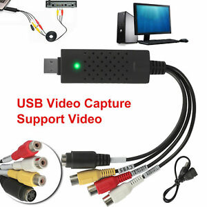 Audio VHS to DVD Converter Capture Recorder USB 2.0 Analog Video to Digital