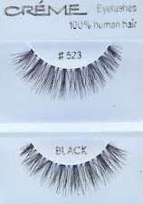 12 Pairs Creme Eyelashes 100 Human Hair Eyelashes #523