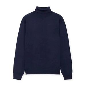 Men's Hackett, FN GG Merino Roll Neck Sweater in Midnight