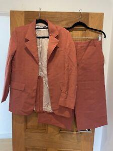 Gorgeous Womens Zara Blush Pink Blazer Culotte Trousers Suit Size M