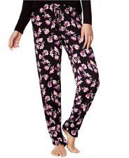 Alfani Black Pink Flower Printed Slim Pajama Pants XS 11dea1b68