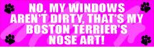 MY BOSTON TERRIER NOSE ART STICKER