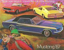 1967 67  MUSTANG/GT  SALES BROCHURE