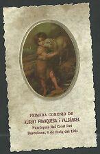 Estampa antigua de San Juan Bautista andachtsbild santino holy card santini