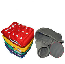 20 ALVA baby Reusable Solid Cloth Diapers Nappies + 20 Bamboo Charcoal inserts