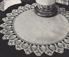 Vintage Crochet PATTERN to make Pineapple Edging Doily Mat Centerpiece Set