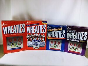 Wheaties cereal boxes LOT of 4  1995 Cowboys Super Bowl XXX  3 x 1996 Olympics