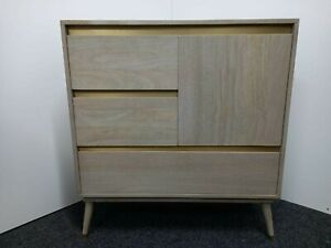 West elm styled grey ashwood sideboard/chest of drawers.RRP £800