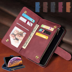 Retro Leather Zipper Card Wallet Case Cover For Sony Xperia 1 10 II/Xperia 5 II