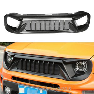 For 2019-2020 Jeep Renegade ABS Black Front Bumper Center Hood Grill Mesh