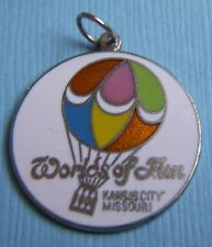 City Missouri silver tone charm Vintage enamel Worlds of Fun Kansas